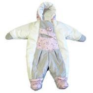 Комбинезон для новорожденных, Бело-Розовый, фото 1