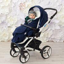 Конверт с мехом Farla Softis Синий для детей от 0 до 24 месяцев