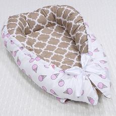 Кокон-Гнездышко для новорожденного Farla Nest Клубничное мороженое