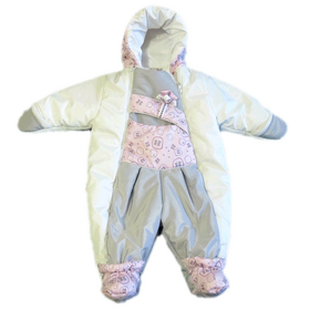 Комбинезон для новорожденных, Бело-Розовый