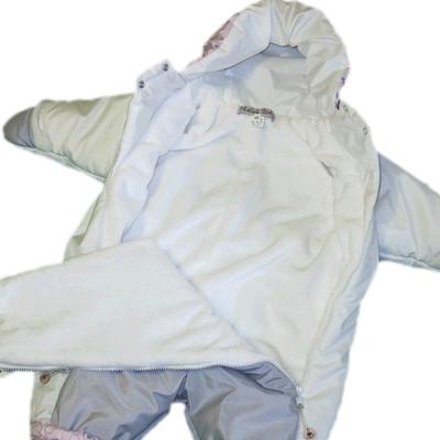 Комбинезон для новорожденных, Бело-Розовый, фото 3